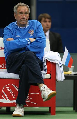 Президент федерации тенниса России, капитан российской команды Шамиль Тарпищев