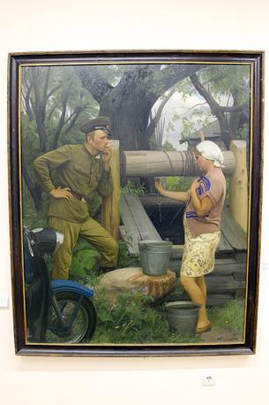 """Н. Соломин """"Слова не сдержала"""" (""""Не дождалась""""). Холст, масло. 1972-80 годы"""