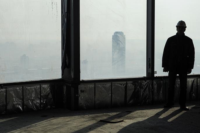 """Вид на небоскреб """"Высоцкий"""" с башни """"Исеть"""""""