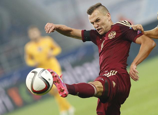 Одним из самых активных в составе сборной России был Денис Черышев