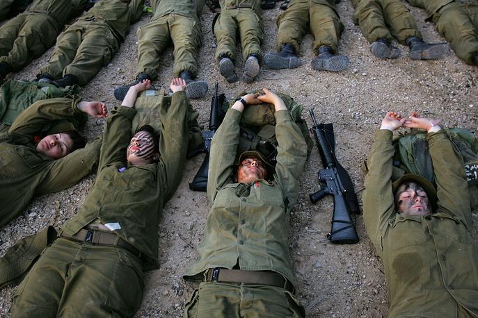 Военная тренировка недалеко от Иерусалима, 2007 год