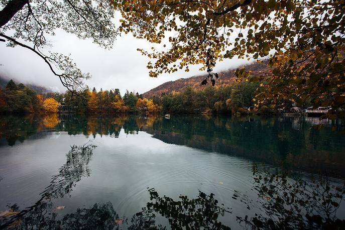 Нижнее Голубое озеро (Церик-Кель). Расположенное в 30 километрах от Нальчика на высоте 820 метров, озеро не замерзает зимой