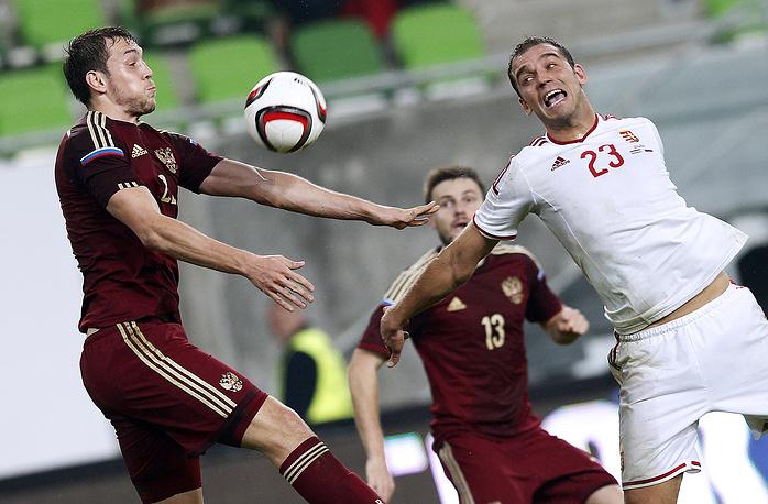 Артем Дзюба не сумел отличиться в матче со сборной Венгрии