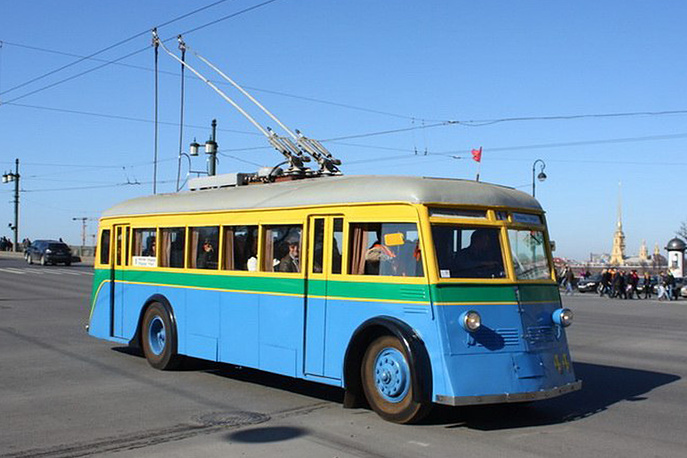 Троллейбус ЯТБ-1 1936 года постройки. Производство Ярославского Автомобильного Завода (ЯАЗ)
