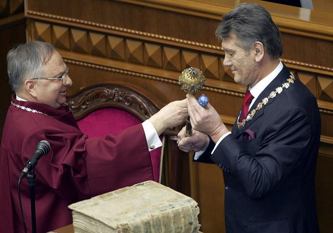 23 января Виктор Ющенко вступил в должность президента