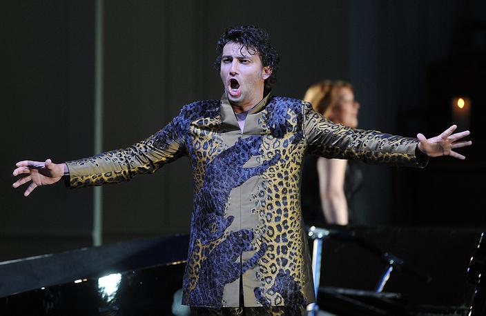 """Йонас Кауфман на репетиции оперы """"Ариадна на Наксосе"""", Австрия, 2012"""