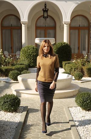 Прокурор республики Крым Наталья Поклонская во время посещения Ливадийского дворца в Ялте, 22 октября