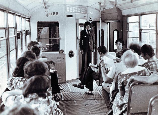 Пассажиры трамвая. 1960-е