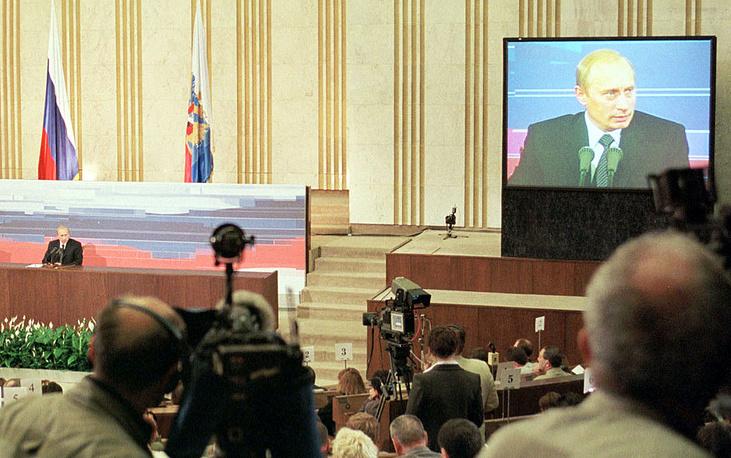 На второй пресс-конференции 24 июня 2002 года глава государства отвечал на вопросы о коррупции, региональной политике, вступлении России в ВТО, расширении НАТО, ситуации в Чечне