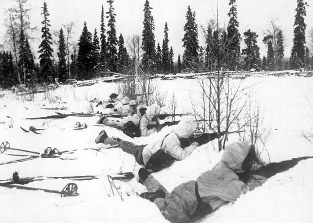 Финские содаты на позиции