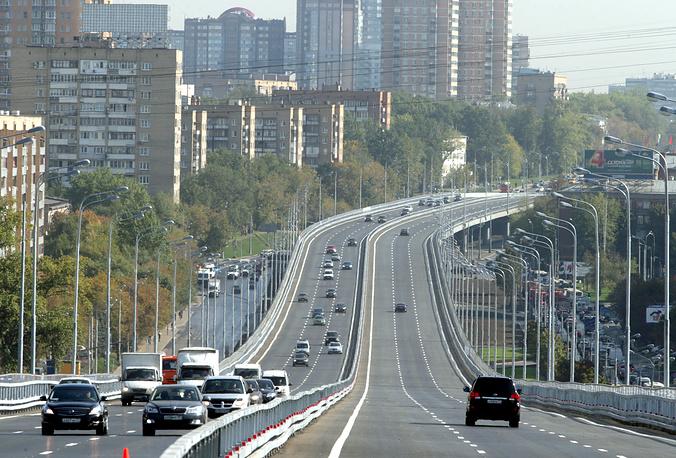 Открытие новой эстакады на Можайском шоссе в Москве