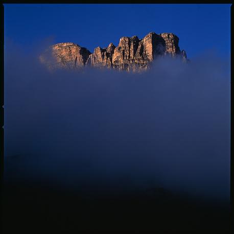 Кабардино-Балкария. Вечерний туман на перевале Актопрак.