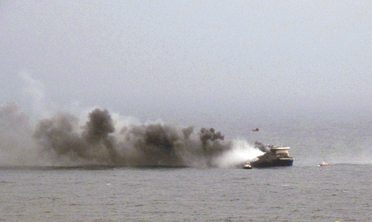 Пожар на зафрахтованном греческой компанией ANEK Norman Atlantic, который следовал под флагом Италии, начался около 4.00 по местному времени в гаражном отсеке, где находилось 222 автомобиля, в том числе несколько грузовиков с маслом