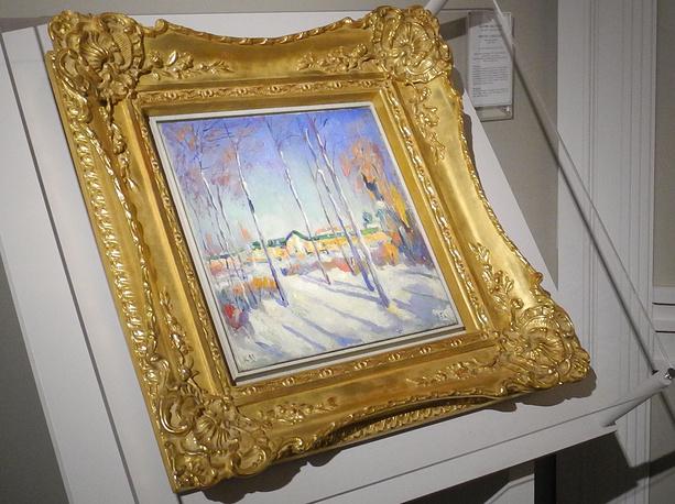 """Самая дорогая работа на ярмарке - """"Зимний пейзаж"""", который Казимир Малевич написал в 1929 году. Галерея Kunstberatung Zürich AG предлагает ее за 7 млн евро"""