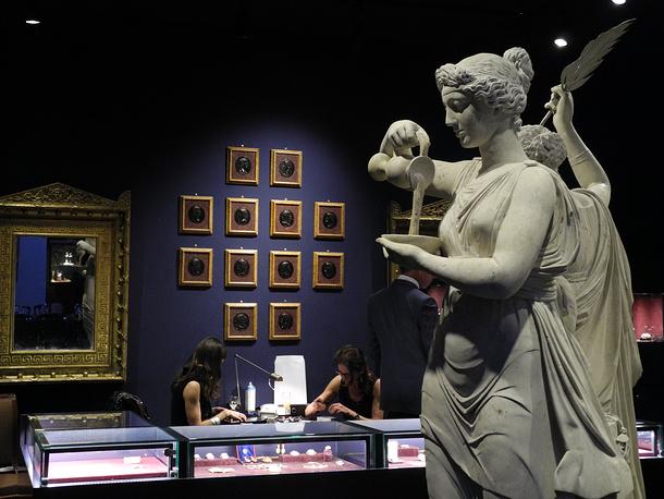 Фрагмент экспозиции  галереи Chamarande