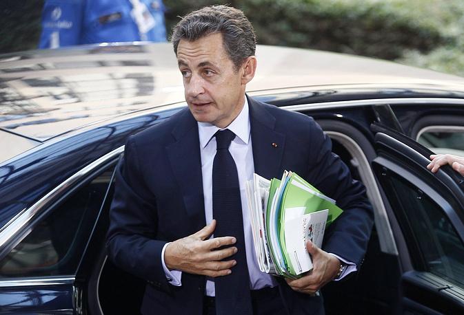 Президент Франции во время саммита глав стран - членов ЕС, посвященного ситуации в Греции. Брюссель, 2011 год