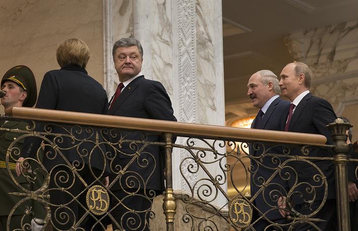 """11 февраля в Минске начались переговоры лидеров России, Франции, Германии и Украины в """"нормандском формате"""""""