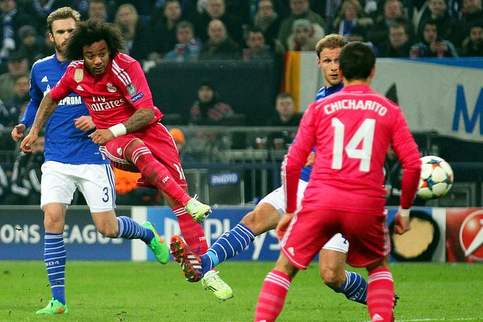 """Окончательный счет во встрече установил защитник Марсело, поразивший ворота """"Шальке"""" ударом из-за пределов штрафной"""