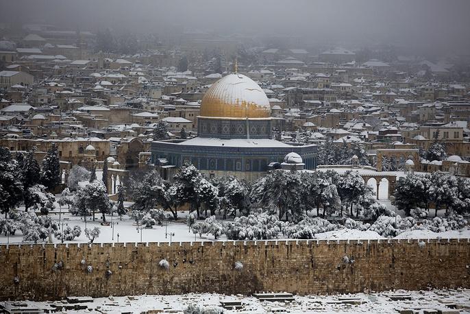 Вид на купол Скалы в Иерусалиме