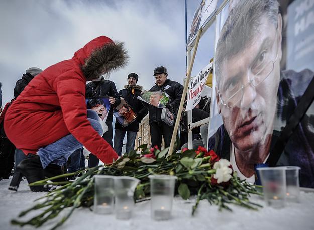 Акция в память о политике в Новосибирске