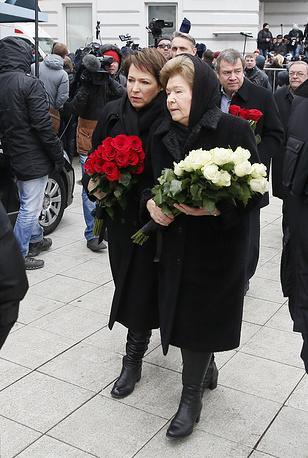 Вдова Бориса Ельцина Наина Ельцина и ее дочь Татьяна Юмашева