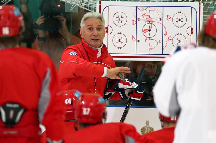 Тренировка сборной России по хоккею в Москве, 2013 год
