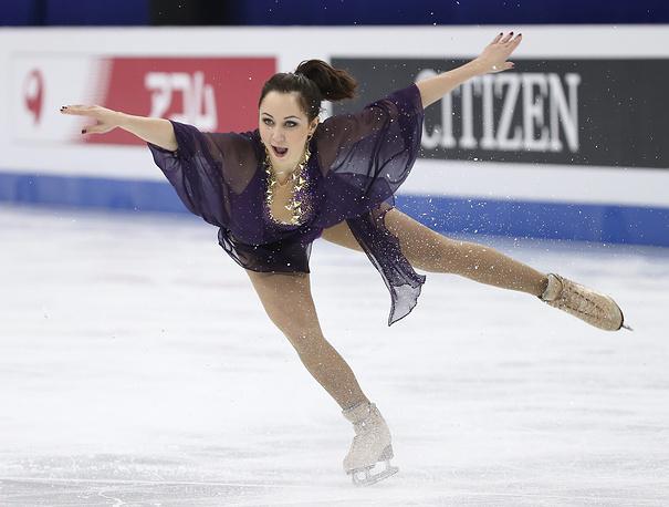 На индивидуальном мировом первенстве Елизавета Туктамышева исполнила самый сложный в женском одиночном катании прыжок - тройной аксель