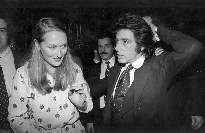 Аль Пачино и Мэрил Стрип, Нью-Йорк, 1980 г