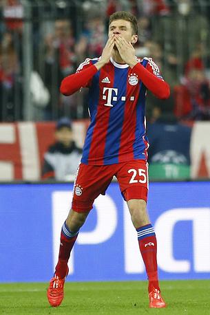 Томас Мюллер - разносторонний игрок мюнхенцев. Он может действовать на любой позиции в группе атаки. В сезоне-2014/15 на европейской арене он принял участие в восьми играх (6 голов, 3 передачи)