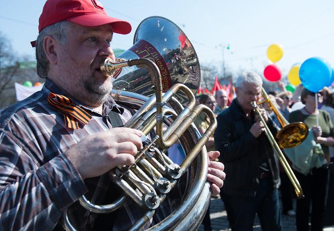 Первомайское  шествие в Екатеринбурге
