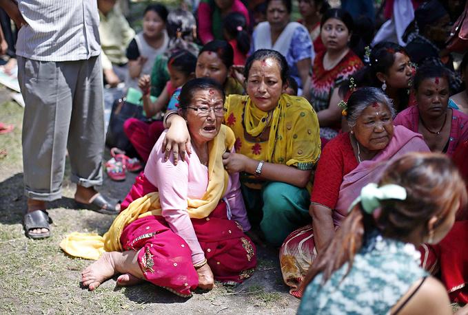 Первое землетрясение магнитудой 7,9 ранее произошло в Непале 25 апреля
