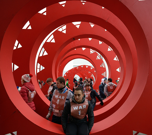 Подготовка к церемониям Олимпийских игр в Сочи. Серия фотографий