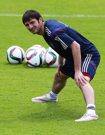 Игрок сборной России по футболу Алан Дзагоев