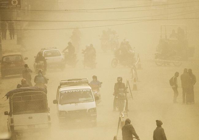 Загрязнение воздуха в Катманду