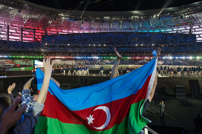 Болельщики за сборную Азербайджана