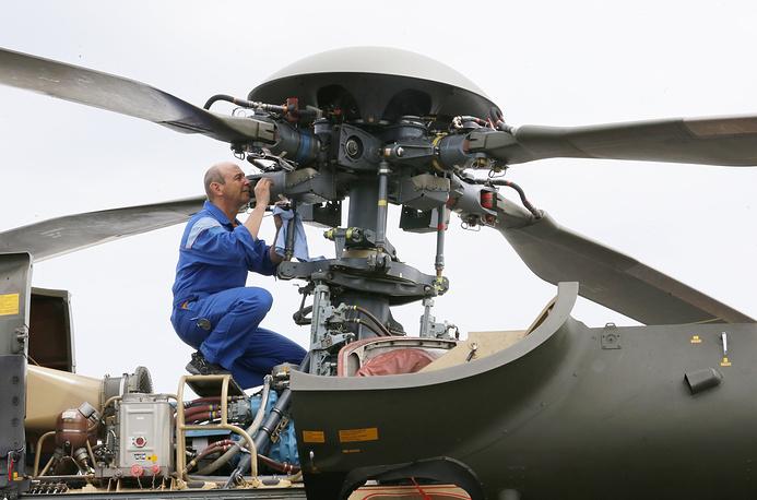 Швейцарский вертолет Super Puma SA-332