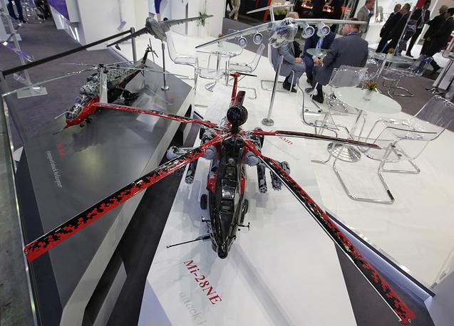 Макет ударного вертолета Ми-28 НЭ