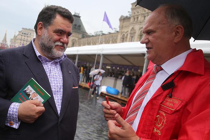 Председатель наблюдательного совета группы компаний Bosco di Ciliegi Михаил Куснирович и лидер КПРФ Геннадий Зюганов