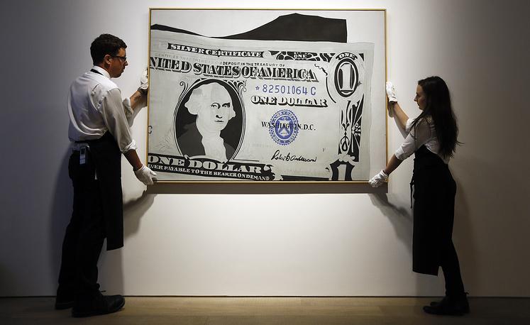 """Картина Энди Уорхола """"Один доллар (серебряный сертификат)"""""""