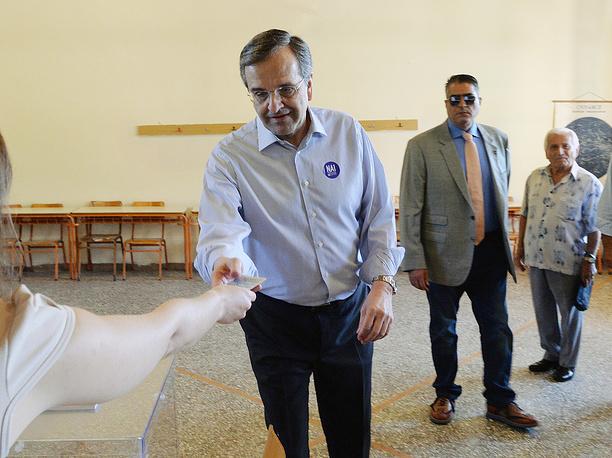Бывший премьер-министр Греции Антонис Самарас
