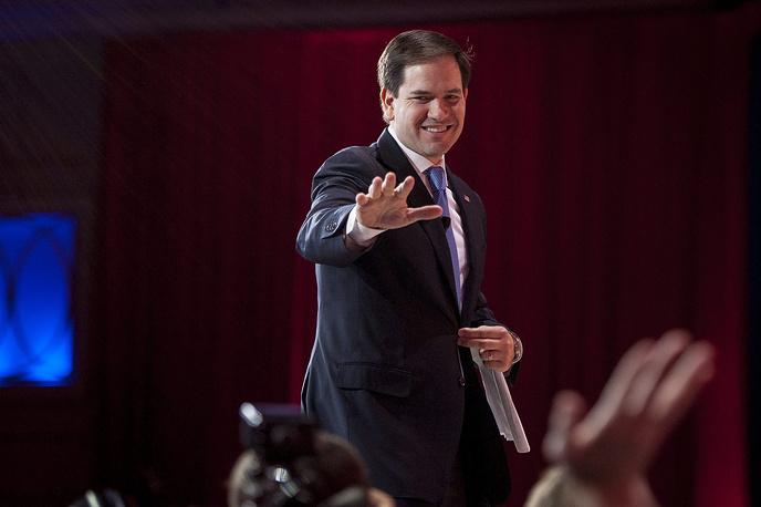 Сенатор от штата Флорида Марко Рубио, Республиканская партия, 44 года. Выбыл из гонки 15 марта 2016 года.