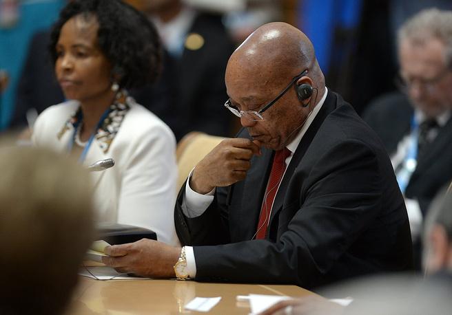Президент Южно-Африканской Республики Джейкоб Зума