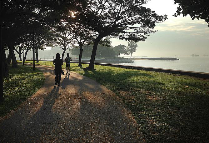 Сингапур не имеет природных ресурсов и импортирует не только песок, но даже пресную воду из Малайзии. На фото: набережная