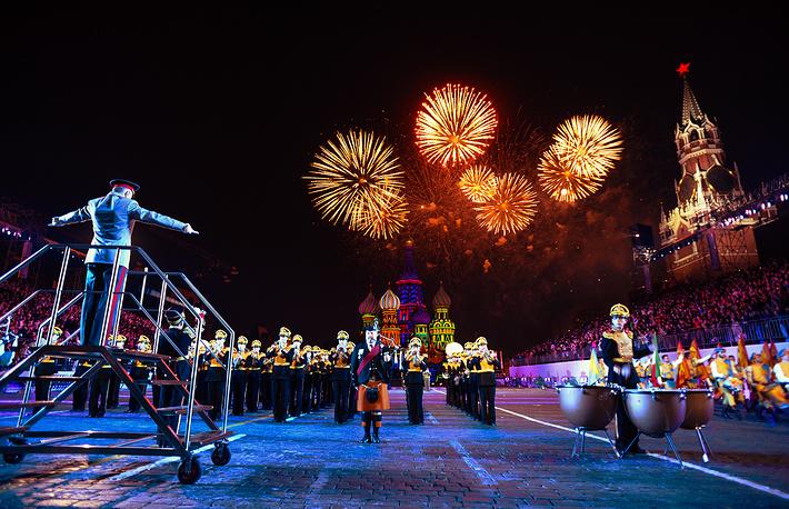 Торжественное закрытие фестиваля «Спасская башня – 2014» в Москве