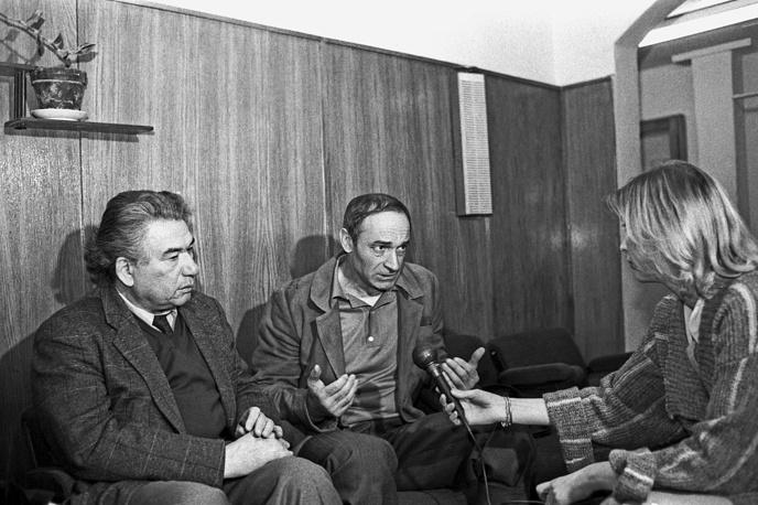 Чингиз Айтматов и Валентин Гафт во время интервью, 1988 год