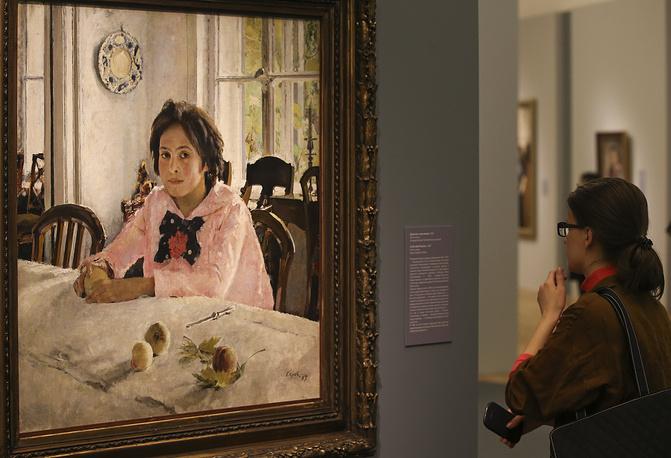 "Картина ""Девочка с персиками"", 1887 год"