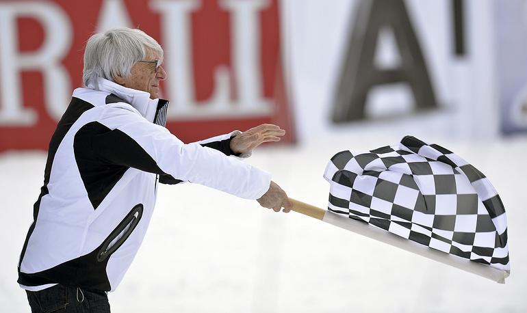 Берни Экклстоун на Кубке мира по горнолыжному спорту (2014 год)