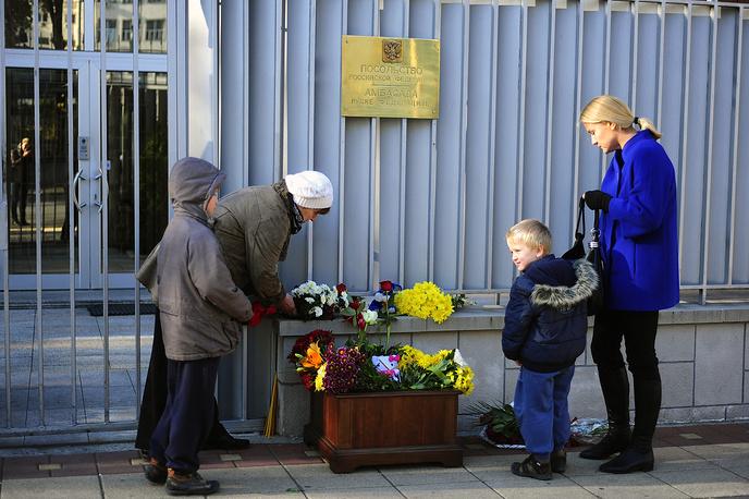 У посольства России в Белграде, Сербия
