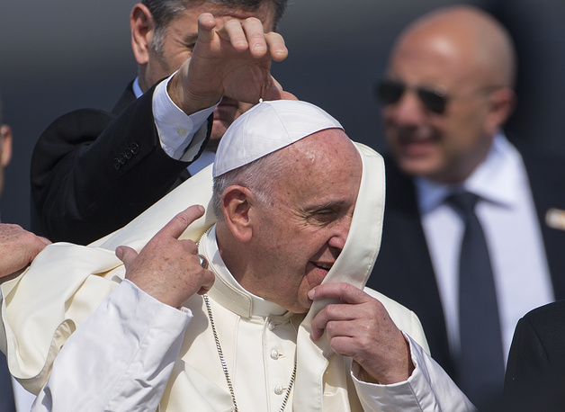 Папа римский Франциск в Международном аэропорту Гаваны имени Хосе Марти