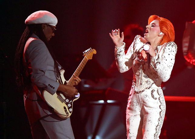 Гитарист Нил Роджерс и Леди Гага
